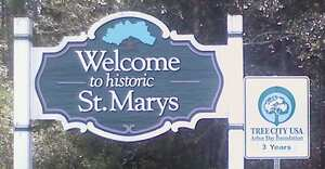Welcome to Historic Saint Marys Sign