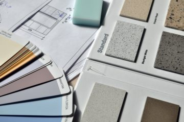 Selection of interior paint and finishes